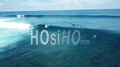 Surfeurs Sur L'océan, îles Mentawai, Indonésie, Vidéo Drone