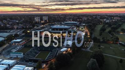 Vue Aérienne De Londres, Courts De Tennis De Wimbledon, Royaume-Uni, Coucher De Soleil