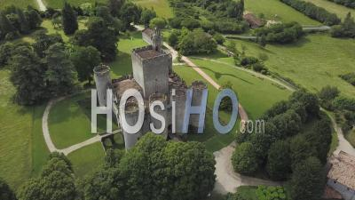 Vieux Château Médiéval De Roquetaillade, Vidéo Drone
