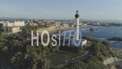 Biarritz City From Lighthouse, France - Video Drone Footage