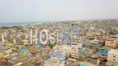 Aerial View Over The Downtown Region Of Djibouti Or Somalia In North Africa - Drone Point Of View