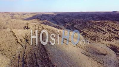Aerial View Over Rugged Desert Landscape And Unique Geology In Namibia, Africa - Video Drone Footage