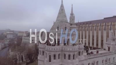 Aerial View Over The Skyline Of Budapest Hungary - Video Drone Footage