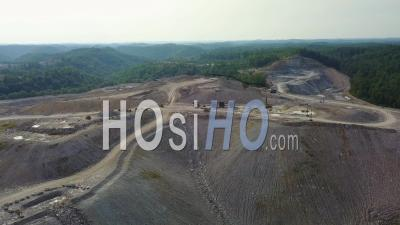Aerial View Over A Mountaintop Removal Coal Strip Mine In West Virginia - Drone Point Of View