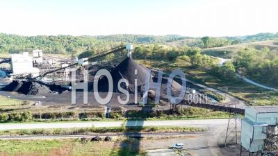 Aerial View Over A Coal Mine In West Virginia - Drone Point Of View