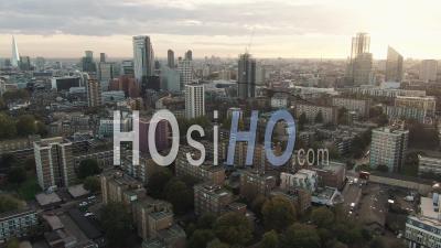 La Ligne D'horizon De La Ville De Londres Depuis Le Nord -Vidéo Drone