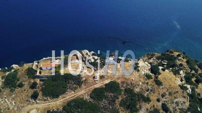 Chapel In Cape Skyli Filmed By Drone