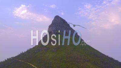 Pan Around Lions Head - Video Drone Footage