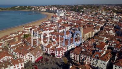 Vue Aérienne Du Port De Saint Jean De Luz, Pays Basque, France