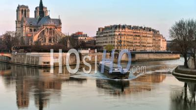 France, Paris, Unesco World Heritage Site, Cathedral Notre-Dame De Paris