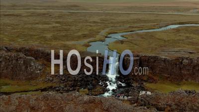 Cascade Oxararfoss En Islande - Vidéo Drone