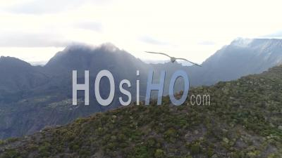 The Reunion Island From A Drone, Cirque Of Mafate