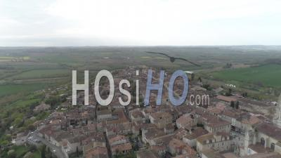 Aerial View Of Lectoure, Filmed By Drone In Summer