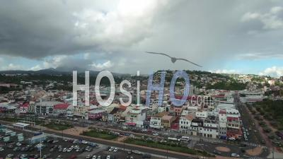 Aerial View Of Fort-De-France, Martinique - Video Drone Footage