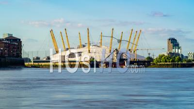 The Millennium Dome In Greenwich (london) Across The River Thames