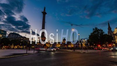 Trafalgar Square, Londres La Nuit