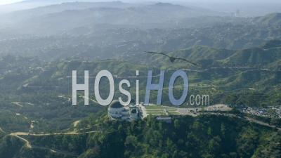 Aerial View Of Griffith Observatory, Hollywood Hills And Santa Monica Mountains