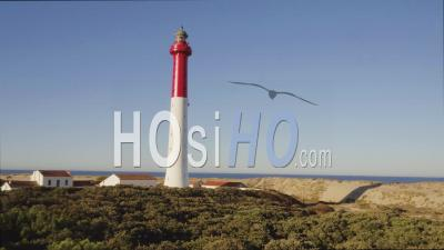 Ascent Of La Coubre Lighthouse Video Drone Footage