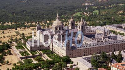 Aerial View Of El Escorial Palace Near Madrid