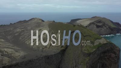 Volcan Dos Capelinhos Aux îles Açores De Faial, Vidéo Drone