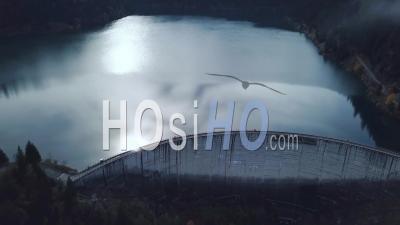 Saint-Guerin Barrage, Savoy, France, Video Drone Footage
