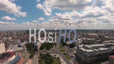 Intervalle De Temps De La Place De L'université, Bucarest