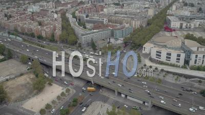 Porte De Pantin And The Parisian Ring Road - Drone Point Of View