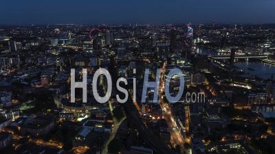 Vue Aérienne De Londres, Le Centre De Londres La Nuit, Royaume-Uni - Vidéo Drone