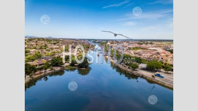 Aerial Panoramic View Of The Ancient Town Of Hoi An - Aerial Photography