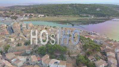 Gruissan Medieval Village, Viewed By Drone