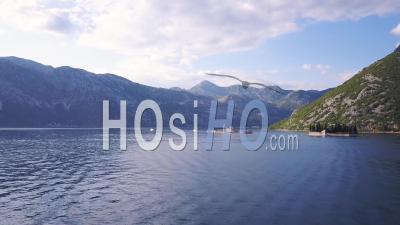 Our Lady Of The Rocks, Bay Of Kotor, Montenegro. Aerial Footage - Video Drone Footage