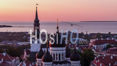 Cathédrale Alexandre Nevski Et La Ville De Tallinn, Estonie - Vidéo Par Drone