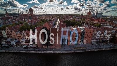 Gdansk, Old Town, Stare Miasto - Video Drone Footage