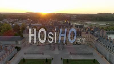 The Chateau De Fontainebleau, France - Video Drone Footage