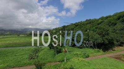 Hanalei Bridge In Kauai, Hawaii - Video Drone Footage