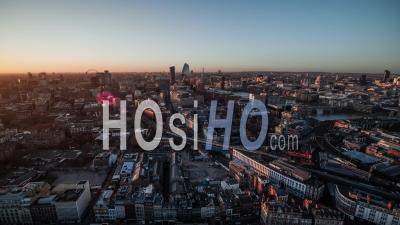 London Skyline London Eye Bt Tower St Pauls Panorama Royaume-Uni - Vidéo Aérienne Par Drone
