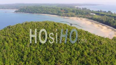 Deserted Beach On Koh Mak - Video Drone Footage