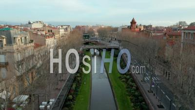 Perpignan, Catalan Capital - Aerial Video By Drone