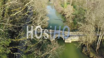 Village Of Saint-Pastour In Sunny Day - Drone Stock Footage