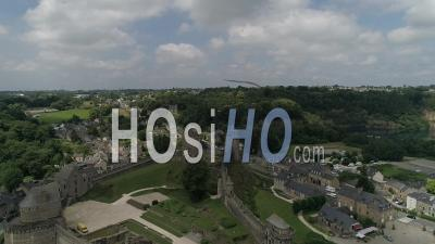The Castle Of Fougeres, Brittany, France - Aerial Video By Drone