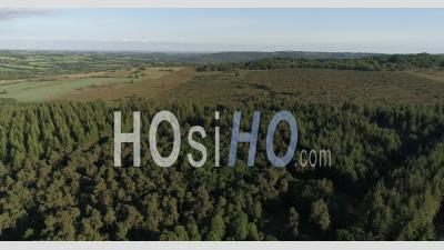Moor Of Cragou In Finistere, Brittany, France - Drone Stock Footage