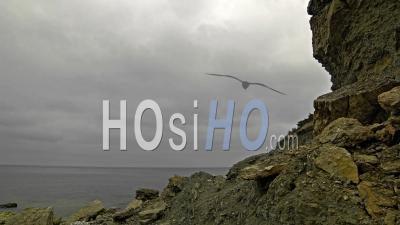 Nuages D'orage Roulant Sur Le Laps De Temps De L'océan