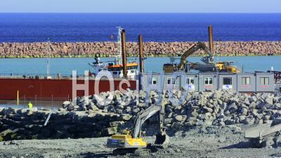 Laps De Temps, Chantier De Construction De Port Occupé, Gotland Suède