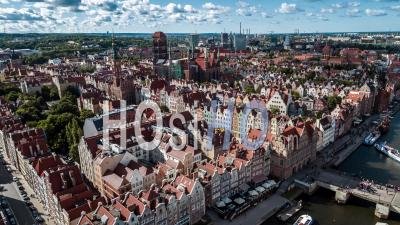Gdansk, Old Town, Stare Miasto, Stara Motlawa - Video Drone Footage