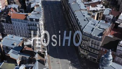 Lille Empty City During Covid-19 Global Lockdown - Video Drone Footage