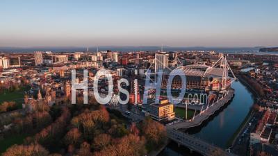 Cardiff Wales Royaume-Uni - Vidéo Drone