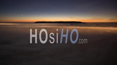 Night Timelapse With Sea Of Clouds