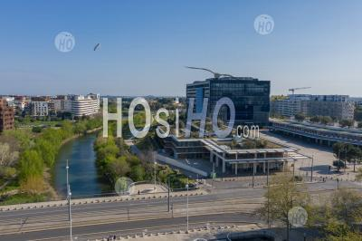 The City Hall Of Montpellier, During Covid-19 - Aerial Photography