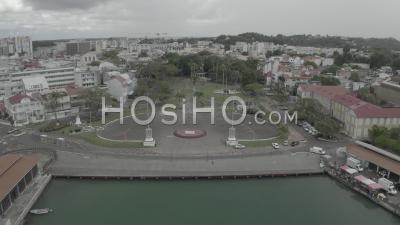 Place De La Victoire La Place Principale De Pointe A Pitre Pendant Covid19, Guadeloupe - Vidéo Par Drone
