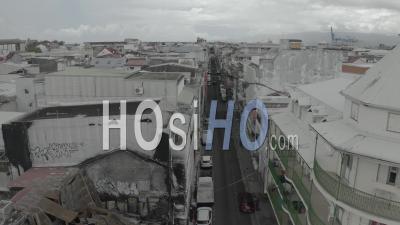 Rue De Pointe A Pitre Pendant Covid19, Guadeloupe - Vidéo Par Drone